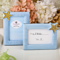 Blue & Gold Design Picture Place Card Frame